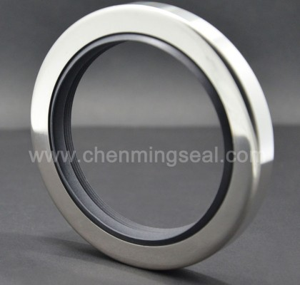 Triple Lip PTFE Oil Seals Stainless Steel Housing