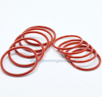 FEP Encapsulated O Rings Red Silicone Rubber Core