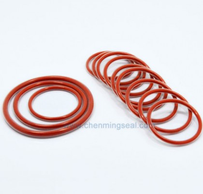 PTFE Encapsulated O Rings Red Silicone Rubber Core