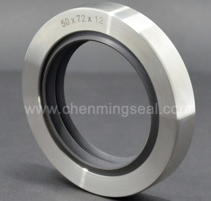 High Precision Triple Lip PTFE Oil Seals Stainless Steel Housing